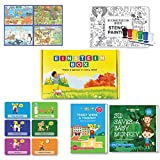 Einstein Box for 4 year olds, 5 year olds and 6 year olds (Learning and educational games, books and puzzles for 4 to 6 year old boys and girls - Birthday gifts and toys for baby, children