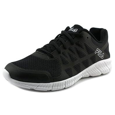 Fila Women's Memory Finity Running Sneakers, Black Mesh, Man-Made, Rubber,