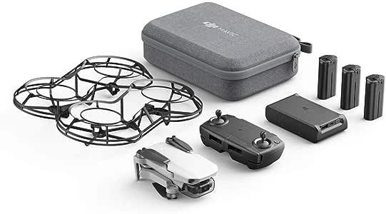 DJI Mavic Mini Combo - Drone FlyCam Quadcopter UAV with 2.7K Camera 3-Axis Gimbal GPS 30min Flight Time, less than 249g, Gray