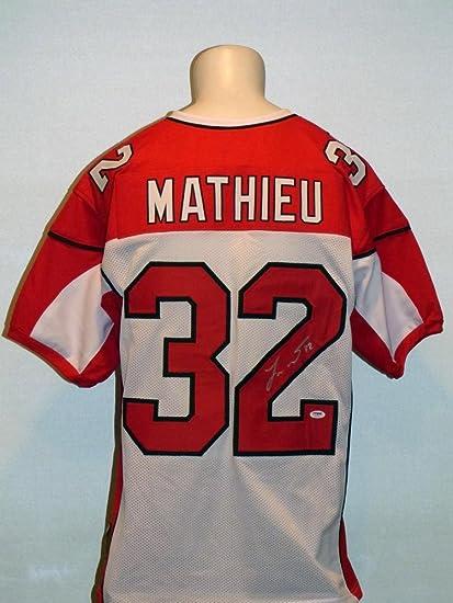 Tyrann Mathieu Autographed Jersey - Custom White - PSA DNA Certified -  Autographed NFL Jerseys 258686085