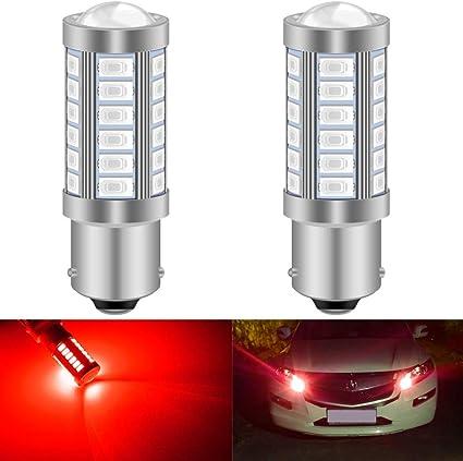 2 PCS Amber 12V 50W 50 SMD LED 1156 BAU15S PY21W Car Turn Tail Lights Bulbs