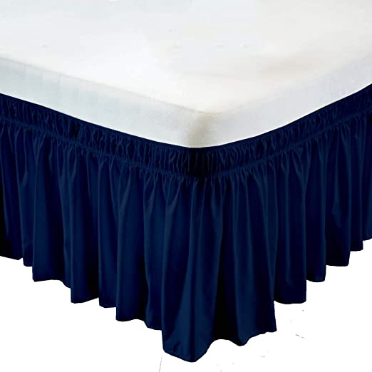 Ruffled Bed Skirt White Solid 500TC Pure Cotton Multiple Drop /& Size Option