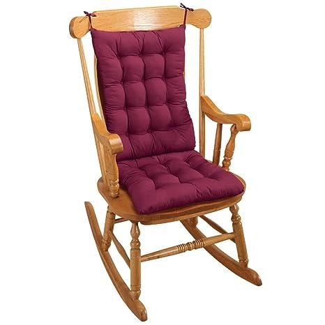 Pleasing Generic 2Pc Padded Rocking Chair Cushion Set Red Machost Co Dining Chair Design Ideas Machostcouk