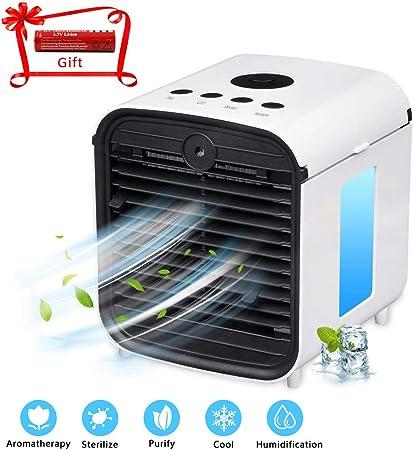 ZEHNHASE Mini Aire Acondicionado portátil, humidificador ...