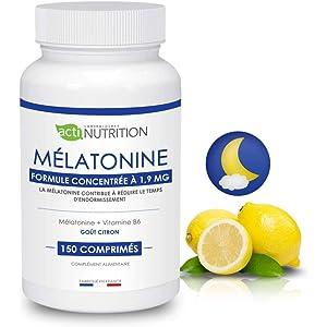Melatonina + Vitamina B6: * regulador del reloj orgánico * Pulsions de grignotage * VITAMINA
