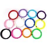 Sunwin 3d Pen Filament Refills Fun Pack ABS 1.75mm Filament 360 Linear Feet Pack of 12 Different Colors