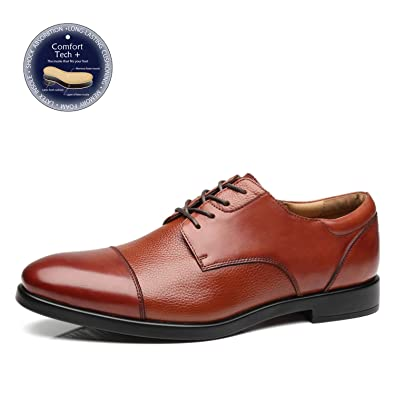 dd743a57972a7 La Milano Mens Wide Width Cap Toe Leather Lace-up Oxford Comfortable Formal  Extra Wide Dress Shoes EEE