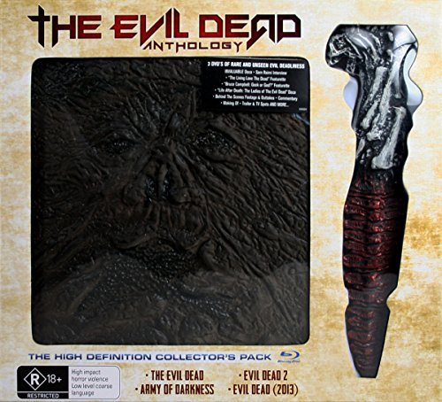 The Evil Dead Anthology - 4 Films (Book of the Dead & Kandarian Replica Prop) - 6-Disc Box Set ( The Evil Dead / Evil Dead II (Evil Dead 2) / Army of Darkness / Evil Dead (2013) ) [ Origine (Blu-Ray)