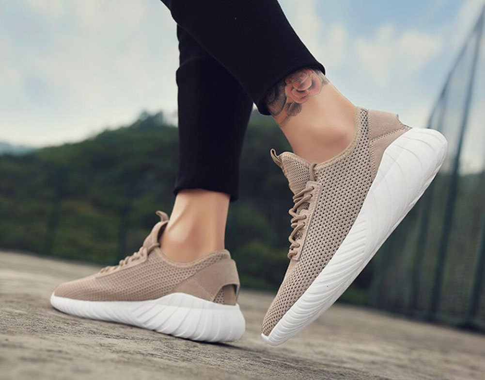 9d49a8f6dee27 Amazon.com : Lovers Tulle/Knit Sneakers 2018 Summer/Fall Mesh ...