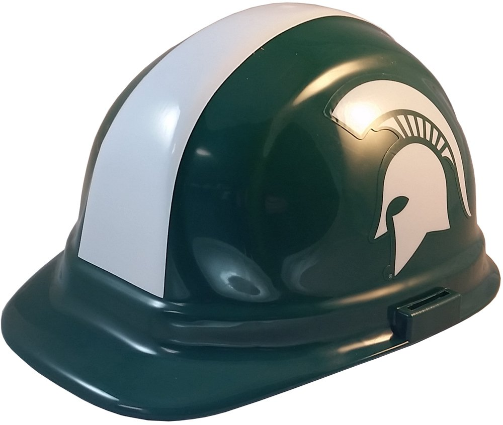 Wincraft NCAA College Ratchet Suspension Hardhats - Michigan State Spartans Hard Hats by Wincraft