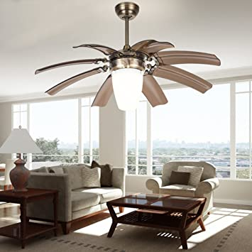 Exceptional Luxurefan Modern Invisible Ceiling Fan Lamp For Living Room With Eight  Retractable ABS Invisible Leaves And