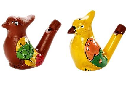 Amazon.com: 2 piezas para pájaros cerámico Silbato juguetes ...