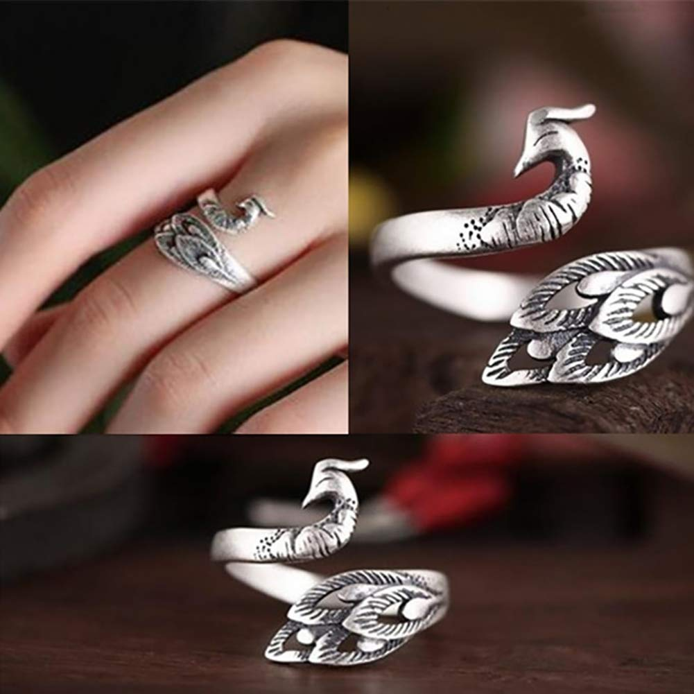 [Ring Perfect Gift]-Vintage Peacock Shape Opening Ring Women Adjustable Party Finger Jewelry Gift,wedding¡¢engagement rings for women,ring jewelry,rings for women