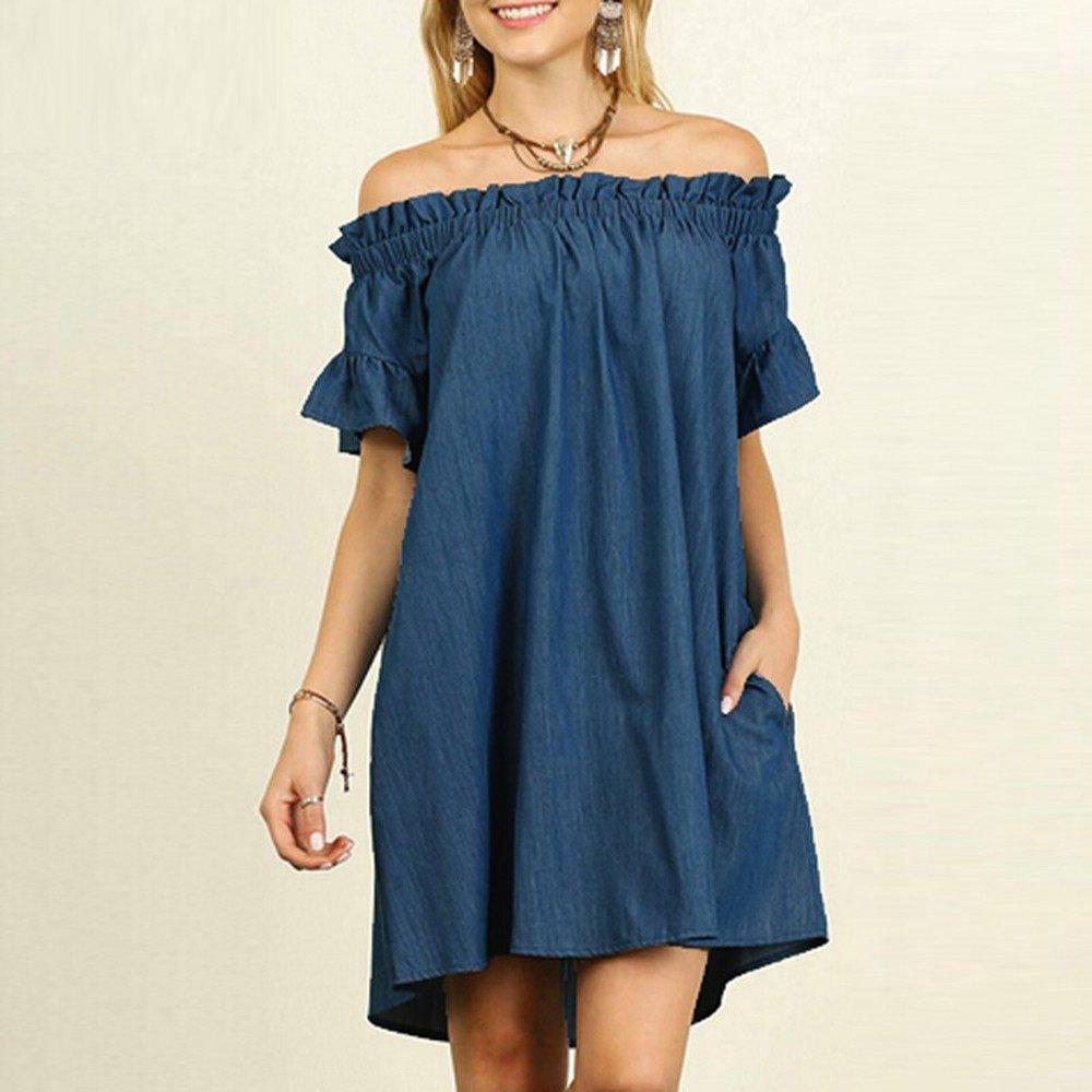c385c9ee6c Amazon.com  Challyhope Mini Dress