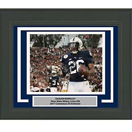c871ccdaefa Framed Autographed/Signed Saquon Barkley Penn State Nittany Lions 8x10  College Football Photo JSA COA #9 at Amazon's Sports Collectibles Store