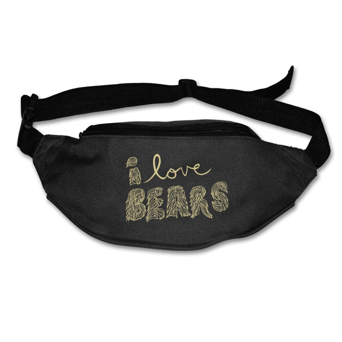 I Love Bear Word Sport Waist Packs Fanny Pack Adjustable For Run
