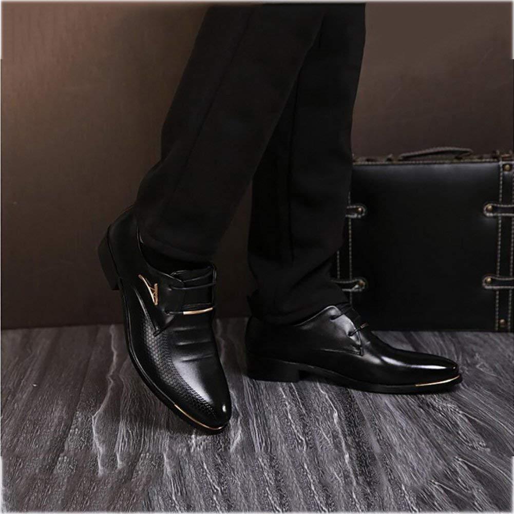 Herren Lederschuhe, Frühlings- Frühlings- Frühlings- Herbst-Formale Business-Schuhe, Spitzen Zehen-Kleider Schuhe, Schwarz Braune Hochzeits-Casual-Party,schwarz,39 (Farbe   Wie Gezeigt, Größe   Einheitsgröße) ce3cbd
