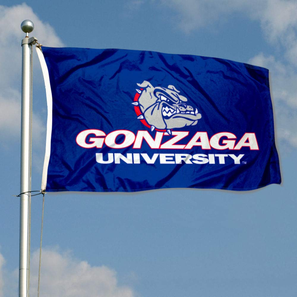 College Flags and Banners Co Gonzaga Bulldogs Wordmark Flag