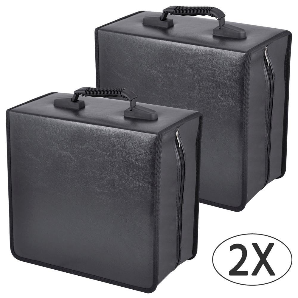 Topeakmart 400 Disc CD DVD Bluray Storage Holder Solution Binder Sleeves Carrying Case-2Pcs