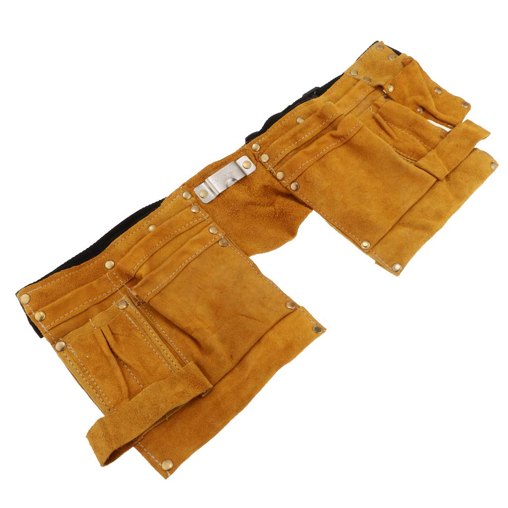 MagiDeal Electrowelding Welding Tool Kit Tradesman Welding Tool Pouch Belt Yellow Plump and Elastic with Excellent Softness
