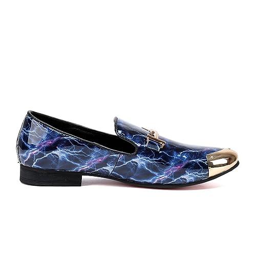 Zapatos de los Hombres Zapatos de los Hombres de la Moda Mocasines Zapatos Zapatos de Remache Masculinos Zapatos de Cuero de los Hombres de la Personalidad ...