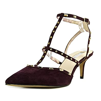 INC International Concepts Womens inccarma Leather Pointed Dark Plum Size 9.0