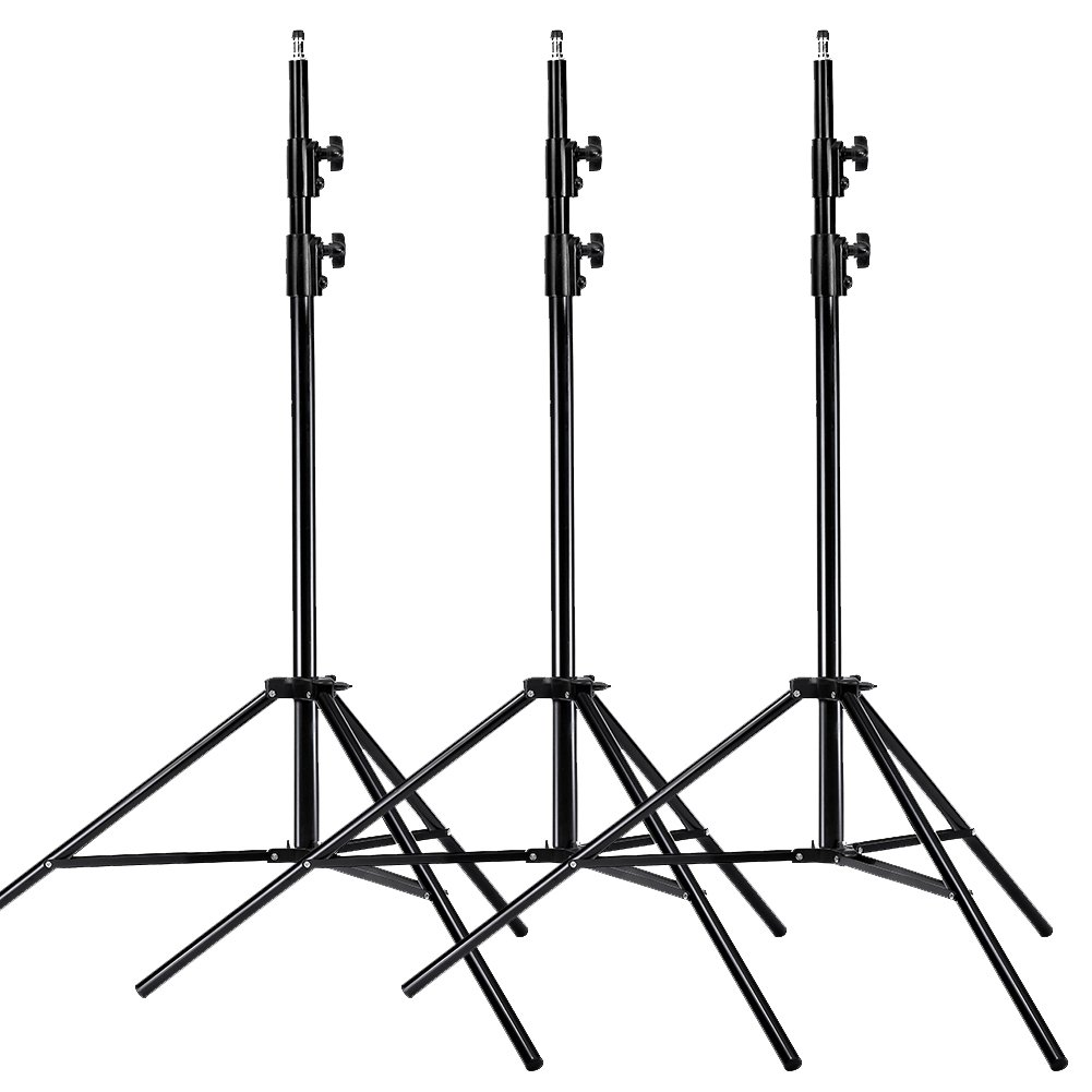 Neewer PRO 9 Feet / 260cm Heavy Duty Aluminum Alloy Photography Photo Studio Light Stands Kit for Video, Portrait and Photography Lighting (3 Pieces)