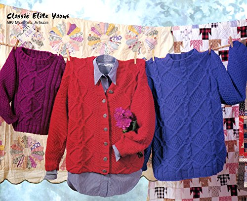 Elite Classic Cardigan (Classic Elite Yarns Knitting Pattern #689 A Breath of Fresh Air, Pullovers, Cardigan)