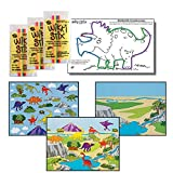 Dinosaur Stickers & Wikki Stix Party Favor Pack - 24 Pc (12 Make-a-Dinosaur Sticker Sheets & 12 Pkgs of Dinosaur Wikki Stix)