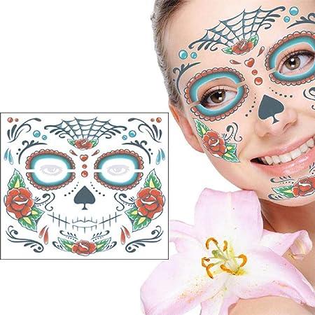 Regalos de Navidad Halloween Cara Tatuaje Pegatinas 4Pcs ...