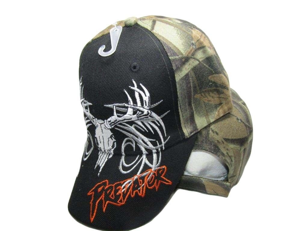 Deer Skull Hunter Predator Camouflage Black Front Embroidered Cap Hat 909A twc_corp