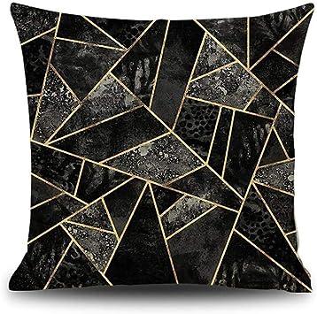 Miss de a cojines almohada, triángulo mármol Print costura almohada Lino Algodón geométrico comedor silla Cojín Protector para el Dormir Viajes: Amazon.es: Bricolaje y herramientas