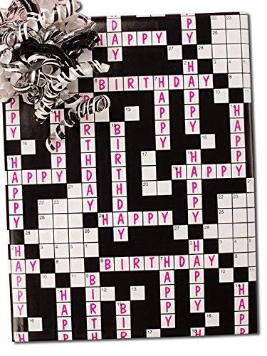 30'' X 15' Happy Birthday Crossword Gift Wrap by Paper Mart