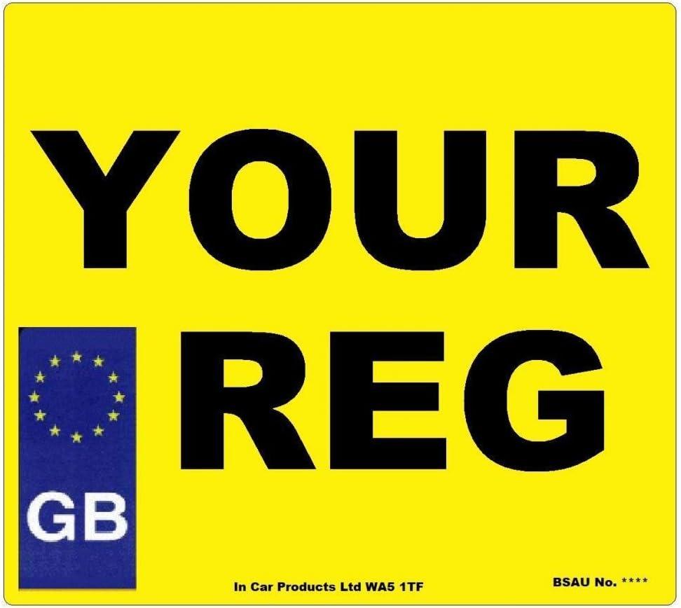 Arrière Standard GB mot Royaume-Uni Route Légal Voiture Van Reg Numéro d/'Immatriculation Plaque