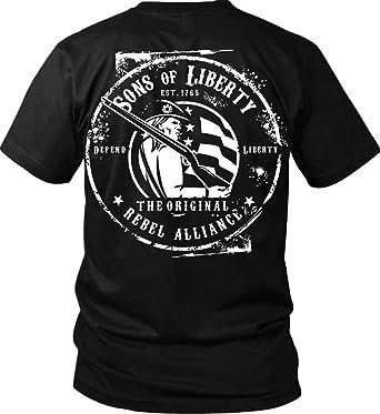 37b68e1ba Amazon.com: Sons Of Liberty - Original Rebel Alliance Port & Co. T ...
