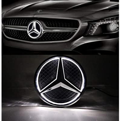 LED Emblem for Mercedes Benz 2013-2015,Car Front Grille Badge, Illuminated Logo Hood Star DRL for Mercedes Benz A B C E R GLK ML GL CLA CLS Class - White Light - Drive Brighter as Christmas Gift: Automotive