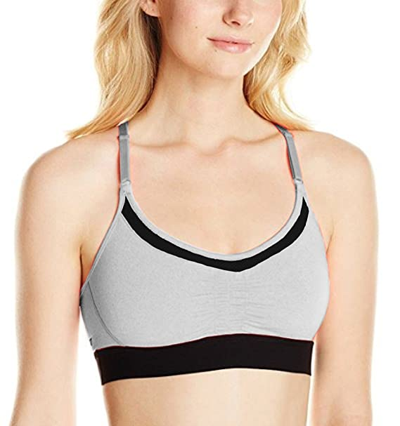 59acaa1fe8e Hurley Juniors Dri-Fit Low Impact Racer Bra (Light Gray