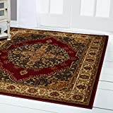 Home Dynamix Royalty Tansy Traditional Area Rug 5'2'x7'2', Oriental Red/Ivory