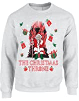Allntrends Adult Sweatshirt The Christmas Throne Santa Best Ugly Xmas Top