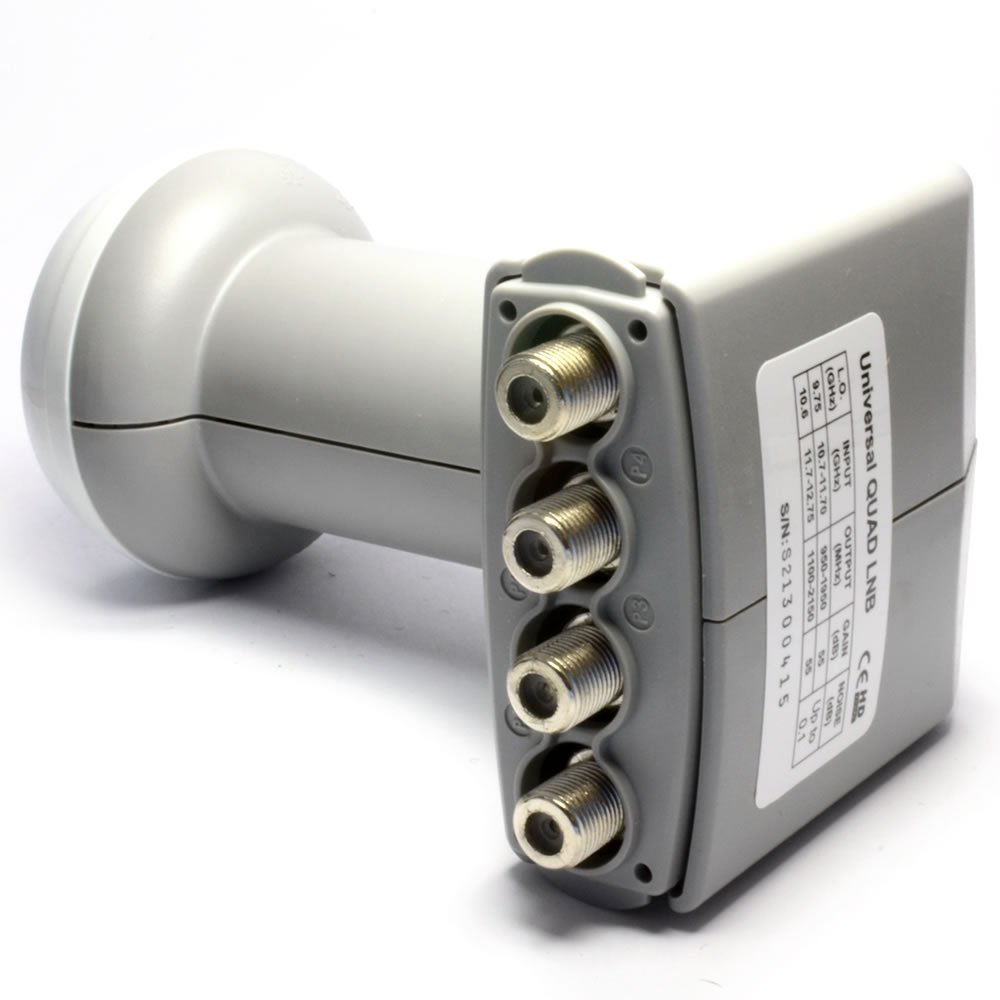 Kenable Icecrypt HD Ready Universal Quad LNB for Satellite Dish by Kenable