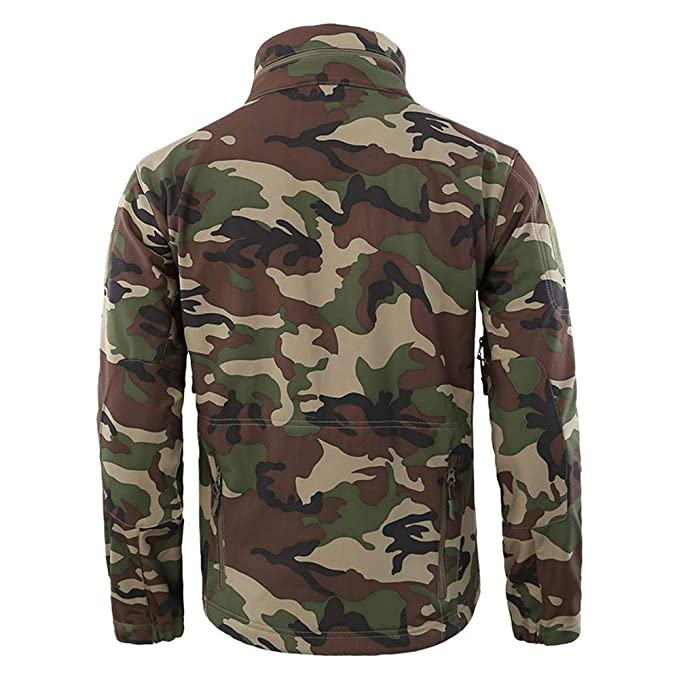 c971baa4a7 Amazon.com  Hunting Jackets Waterproof Hunting Camouflage Hoodie for Unisex Military  Camo and Tactical camouflage  Clothing