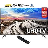 Samsung UN55MU8000FXZA 55 4K Ultra HD Smart LED TV (2017 Model) + 1 Year Extended Warranty (Certified Refurbished)