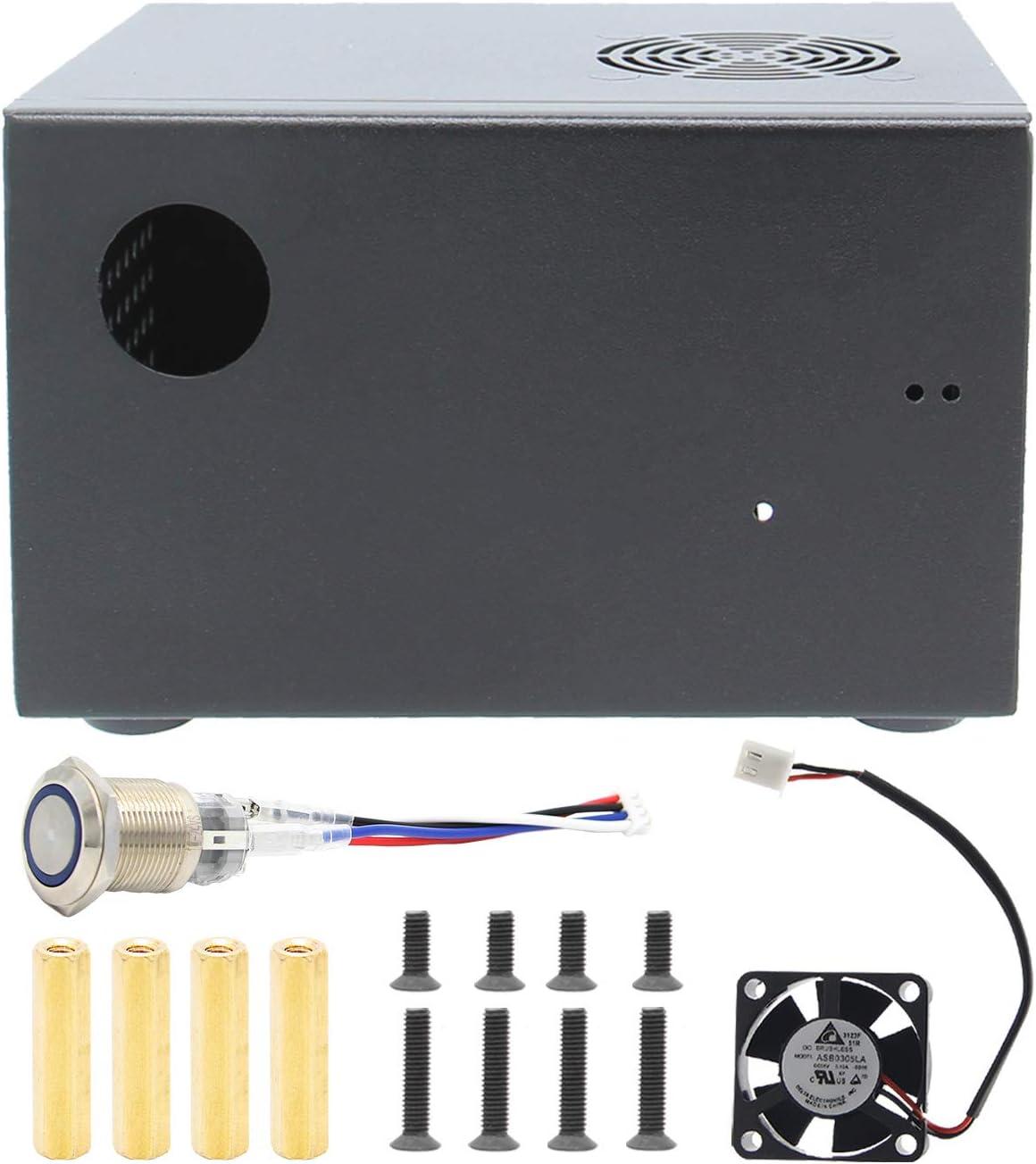 Geekworm Raspberry Pi X825 C6 Metal Case Switch Fan Computer Zubehör