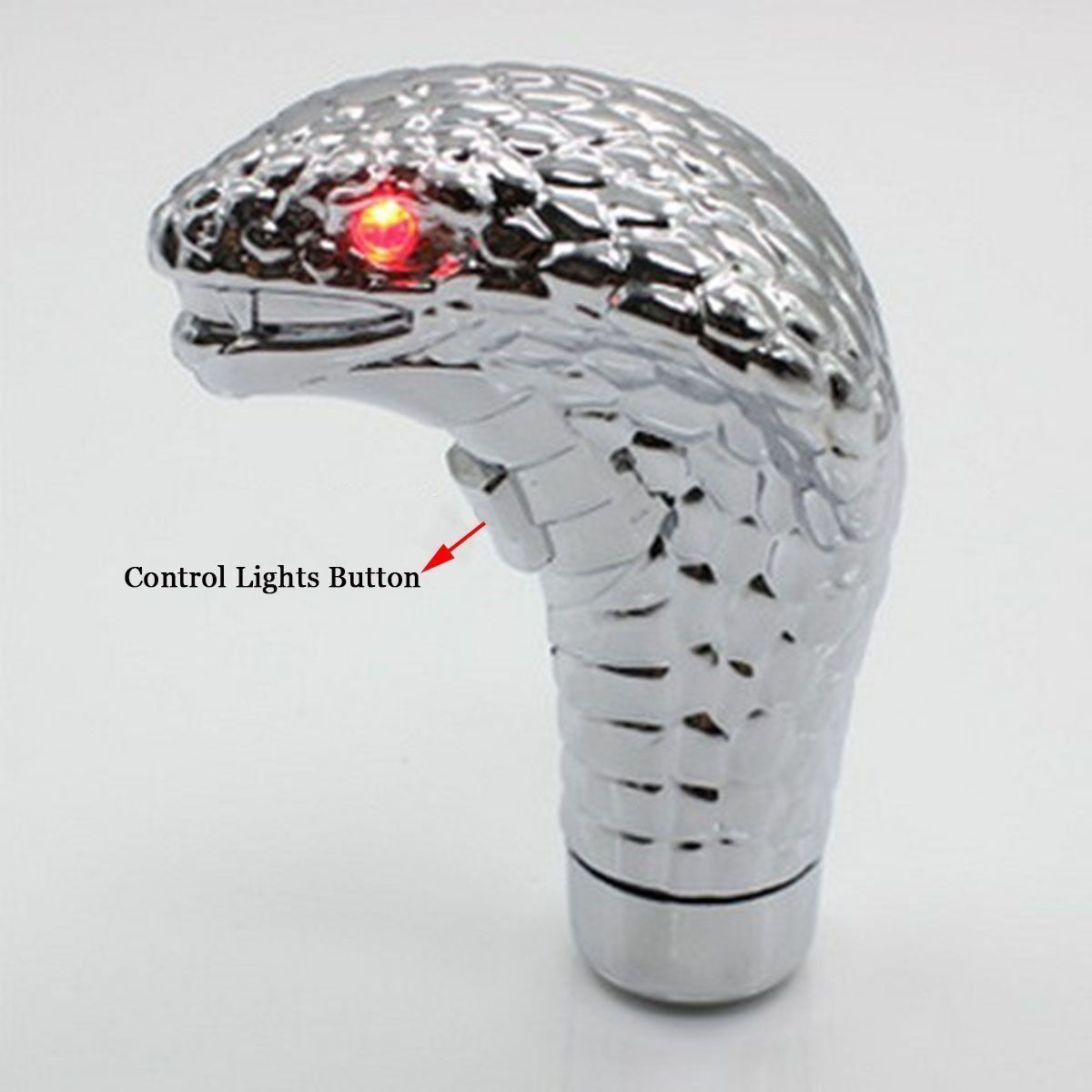 Big Ant Car Cobra Head Gear Shift Knob,Touch Activated Ultra Red Eye LED Light,Handle Shifter Manual//Automatic Gear Shifting Knob Fits Most Cars