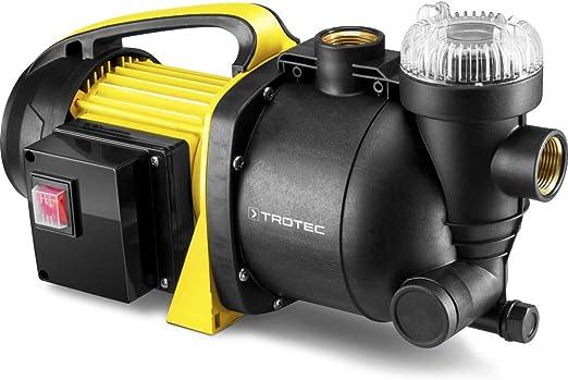 TROTEC Bomba de jardín con Filtro TGP 1005 E Bomba de Agua aspersor para césped 1000 W 3300 l/h Capacidad: Amazon.es: Jardín
