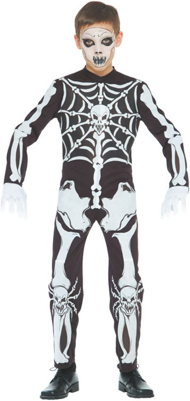 GUIRMA - Disfraz esqueleto traje para niños de 7-9 años (82372 ...