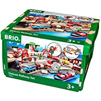 Brio Deluxe Railway Set Wooden Toy Train Set for Kids