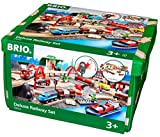 Brio Deluxe Railway Set Wooden Toy Train Set for Kids - Made with European Beech Wood