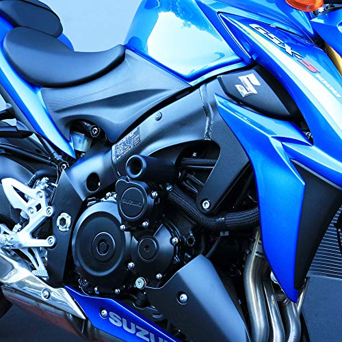 Shogun 2016 2017 2018 2019 Suzuki GSX-S1000F GSX S1000F 1000 Black Complete No Cut Frame Slider Kit Includes No Cut Frame Sliders, Swing Arm Spools and Bar Ends - 755-5639 - MADE IN THE USA