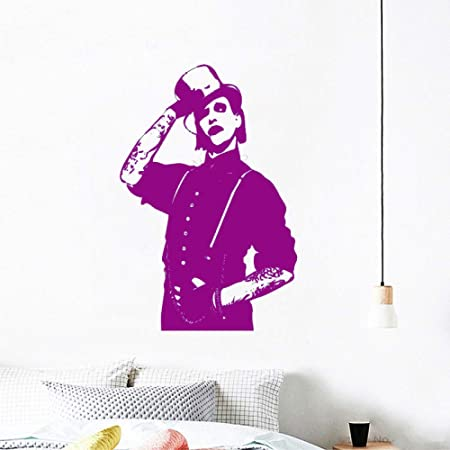 xingbuxin Tatuajes de Pared Marilyn Manson Rock Music Star Poster ...